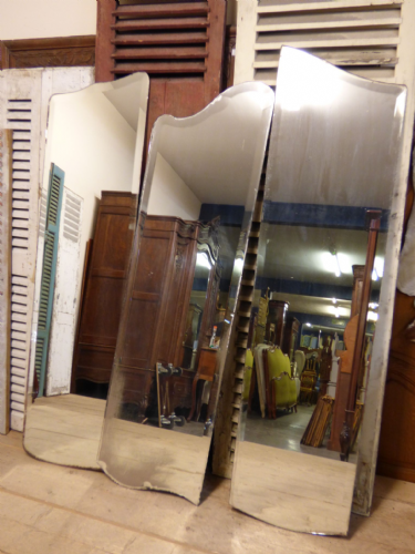 Over 10 Antique French Armoire Mirrors - Job Lot